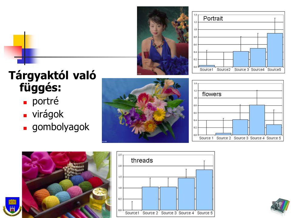 Tárgyaktól való függés: portré virágok gombolyagok