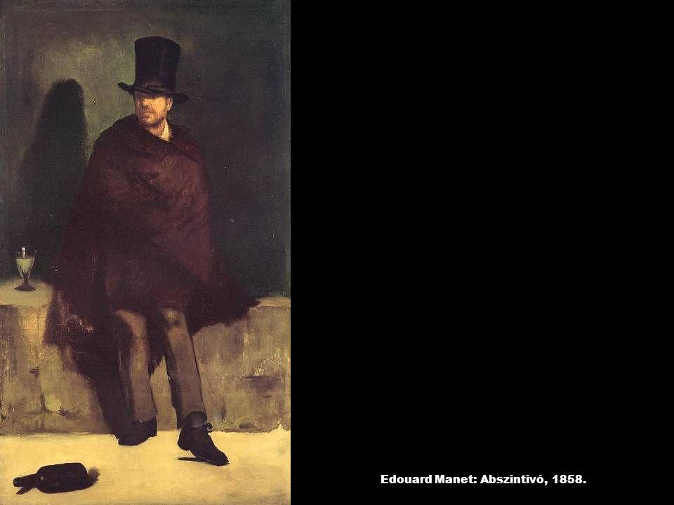 Edouard Manet: Abszintivó, 1858.