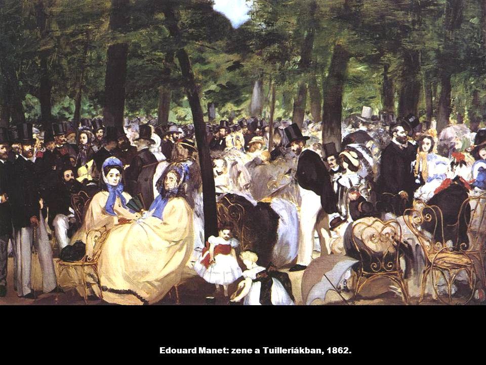 Edouard Manet: zene a Tuilleriákban, 1862.
