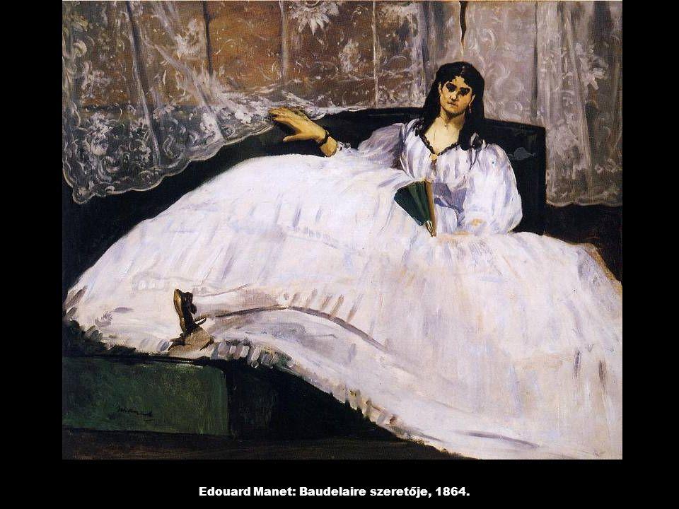 Edouard Manet: Baudelaire szeretője, 1864.