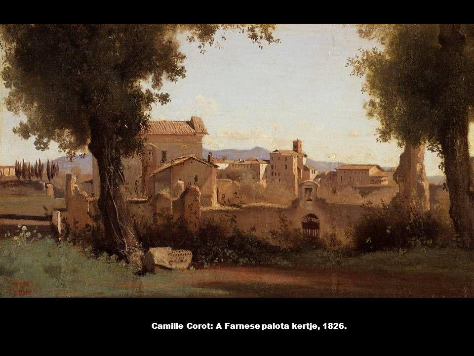 Camille Corot: A Farnese palota kertje, 1826.