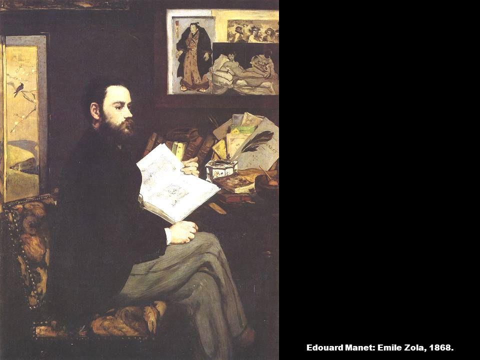 Edouard Manet: Emile Zola, 1868.