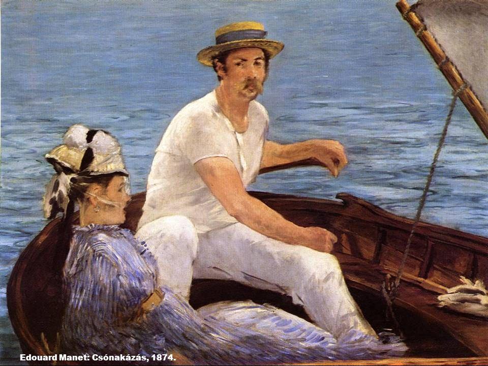 Edouard Manet: Csónakázás, 1874.