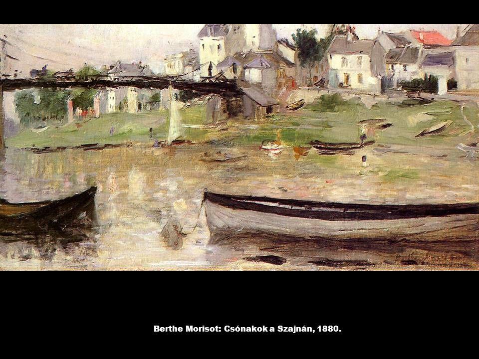 Berthe Morisot: Csónakok a Szajnán, 1880.