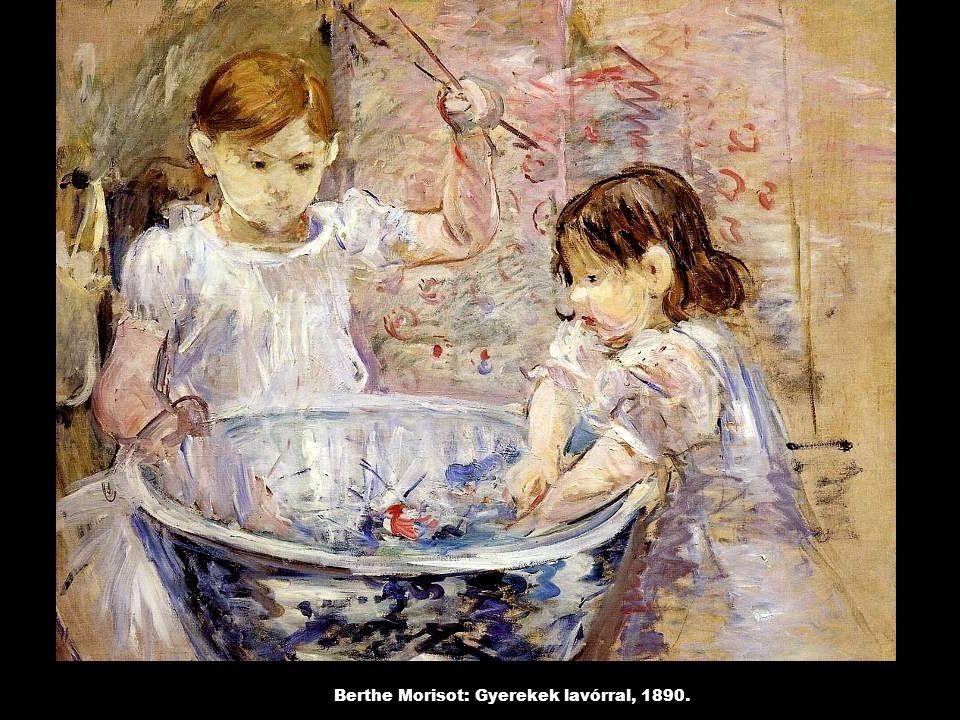 Berthe Morisot: Gyerekek lavórral, 1890.