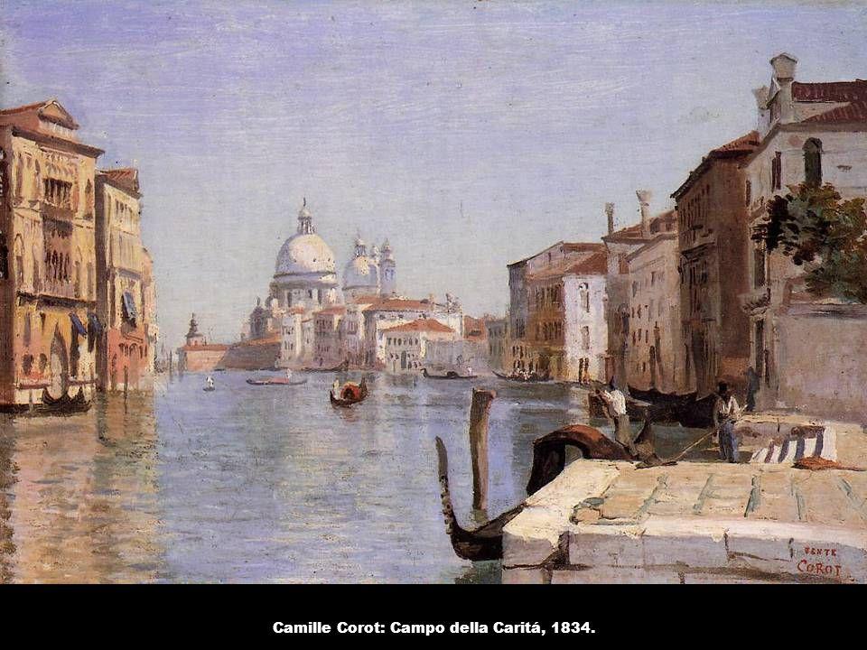 Camille Corot: Campo della Caritá, 1834.