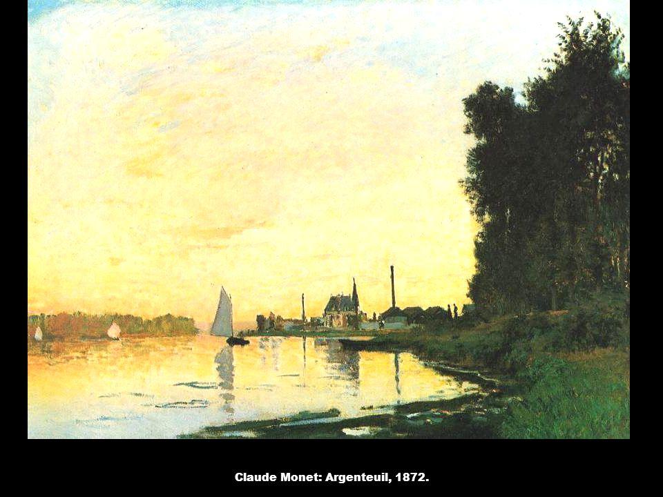 Claude Monet: Argenteuil, 1872.