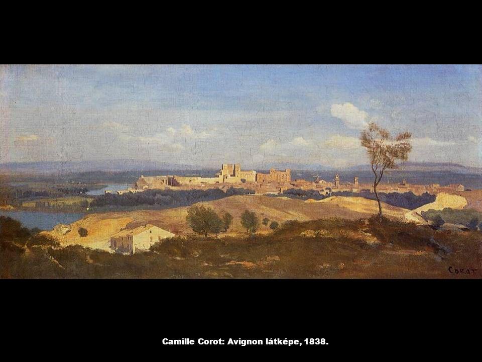 Camille Corot: Szélmalom a Montmartre-on, 1845.