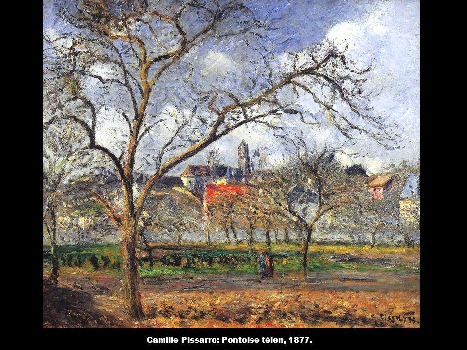 Camille Pissarro: Pontoise télen, 1877.