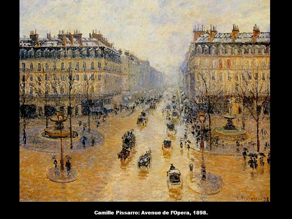 Camille Pissarro: Avenue de l'Opera, 1898.