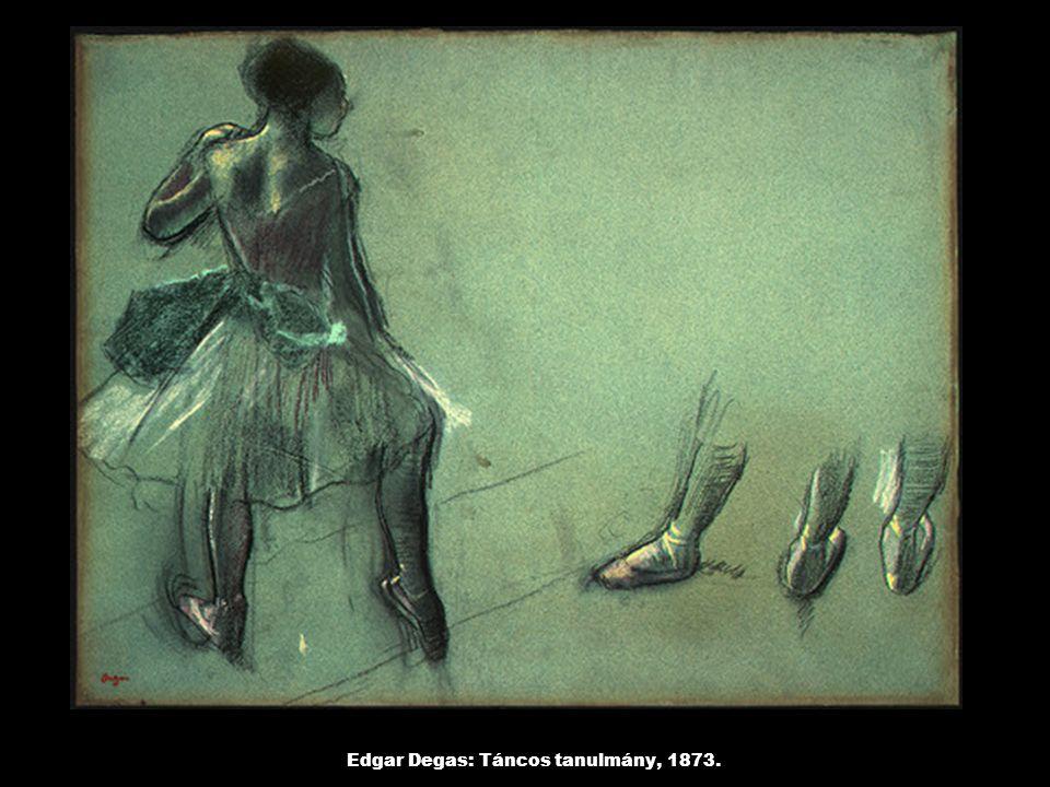 Edgar Degas: Táncos tanulmány, 1873.