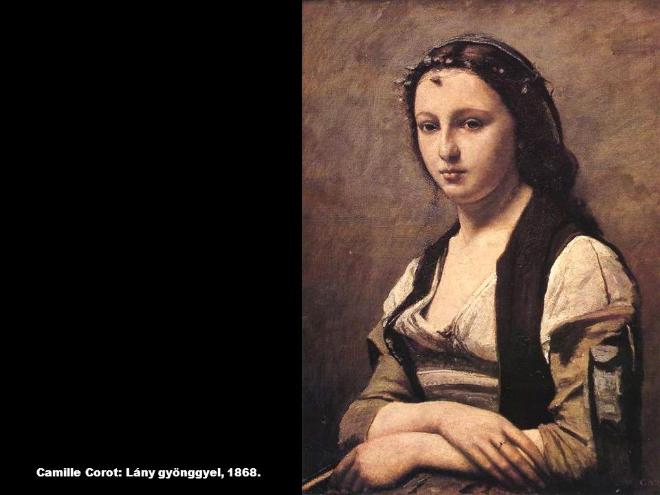 Camille Pissarro: Virágok Louvecienne-ben, 1890.