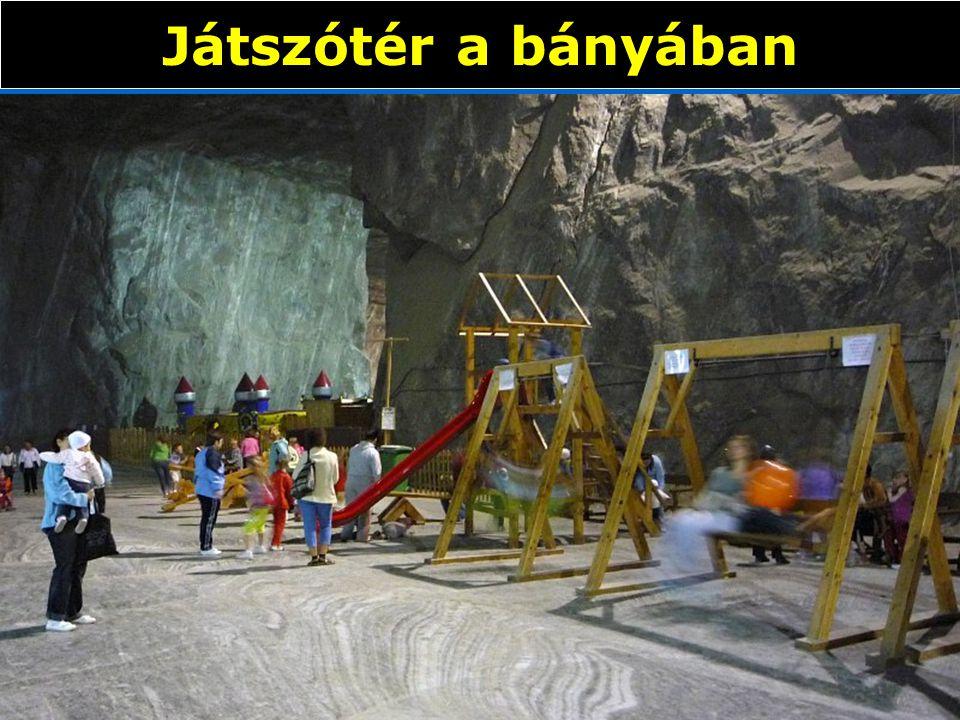 Játszótér a bányában