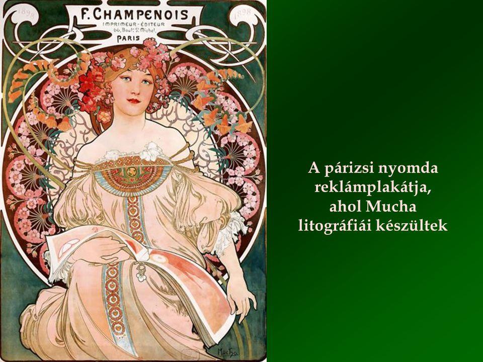 """Zodiákus Mucha leghíresebb és üzletileg legsikeresebb plakátja a """"La Plume"""" folyóiratnak készült 1896-ban"""
