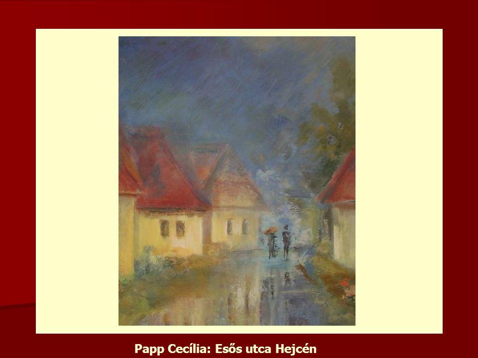 Papp Cecília: Esős utca Hejcén