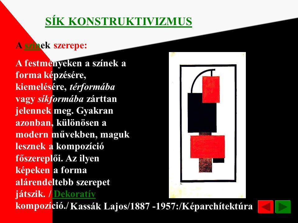 Pier Mondrian/1872-1944/ Kompozíció SÍK KONSTRUKTIVIZMUS 1925 Művészetével az esetleges jelenségek, a változékony formák mögött meghúzódó változatlan