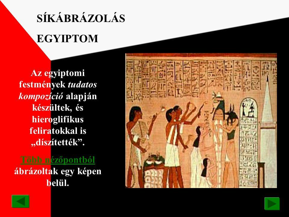 Az egyiptomi művészek munkáikban az örök érvényűt, az állandót mutatták be. EGYIPTOM IV. Amenhotep /Echnaton fáraó/ képmása i.e. 1370 körül / /domborm