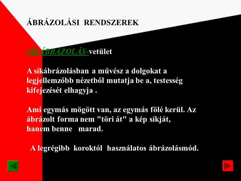ÁBRÁZOLÁSI RENDSZEREK SÍKTÉR VETÜLETIAXONOMETRIKUSPERSPEKTIVIKUS