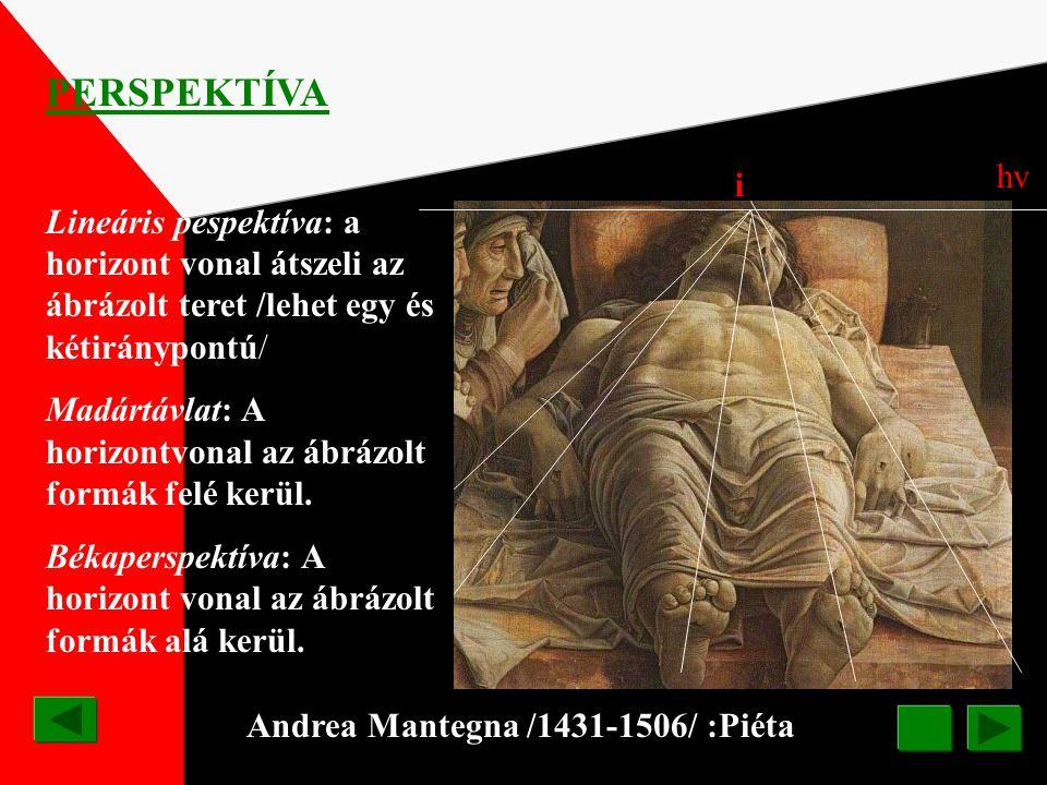 Raffaello di Santi: Mária és József eljegyzése A festmény az érett reneszánsz jellegzetes képszerkesztési módszere alapján készült, melynek lényege a