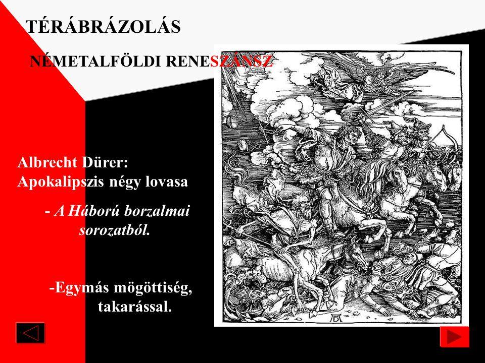 Albrecht Dürer /1471-1528/: Jeromos TÉRÁBRÁZOLÁS NÉMETALFÖLDI RENESZÁNSZ / lineáris, egyiránypontos, vonalperspektíva/ -Az ólomüveg ablakon beáramló n