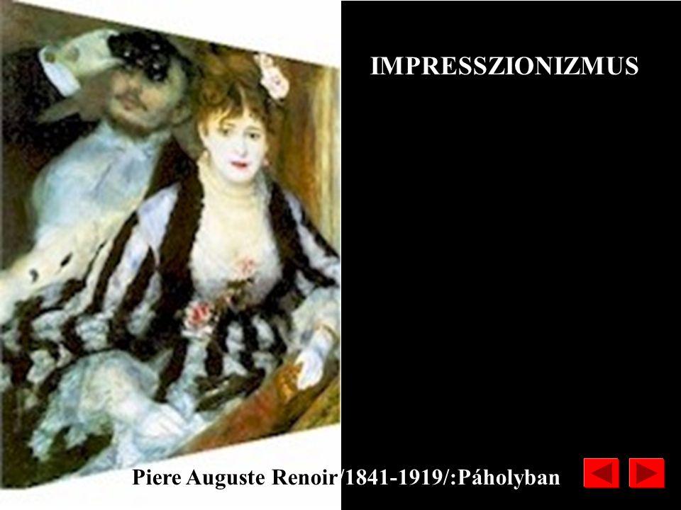 Edouard Manet /1832-1883/: Monet műterme IMPRESSZIONIZMUS