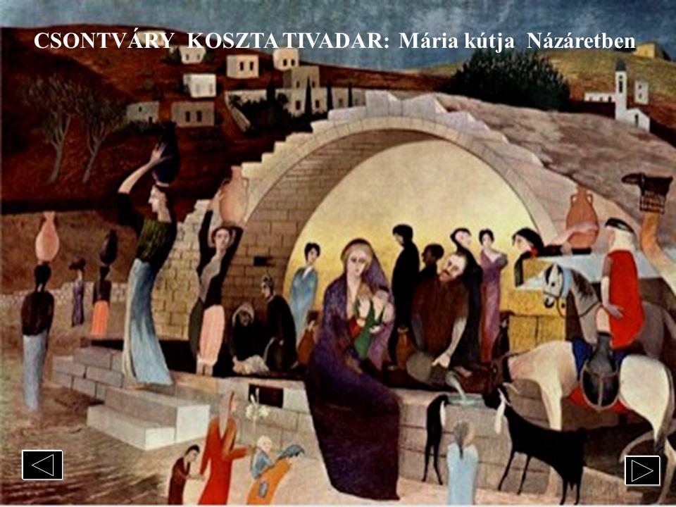 CSONTVÁRY KOSZTA TIVADAR A Magányos cédrust a magányos Csontvárival a míg ellentétpárját, a Zarándoklás a cédrusokhoz Libanonban c. művet az ünnepelt