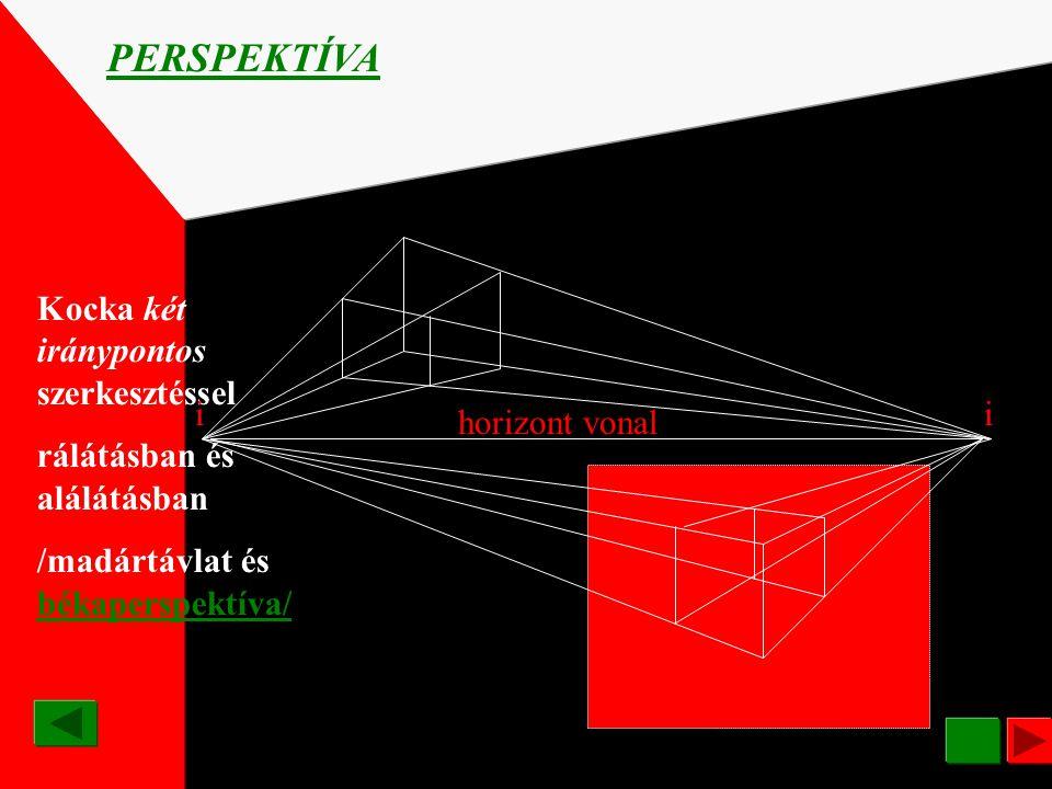 ÁBRÁZOLÁSI RENDSZEREK PERSPEKTÍVA A térbeli tárgyaknak síkon történő, de a térbeliség látszatát keltő ábrázolási módja. Perspektíva: távlat. A látszat