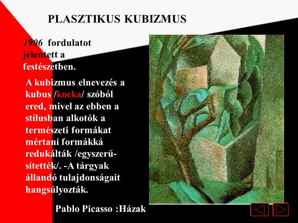 Az 1907-be megfestett Avignoni kisasszonyok című festményével megnyitotta az utat a kubizmus felé. KUBIZMUS Pablo Picasso: Avignoni kisasszonyok