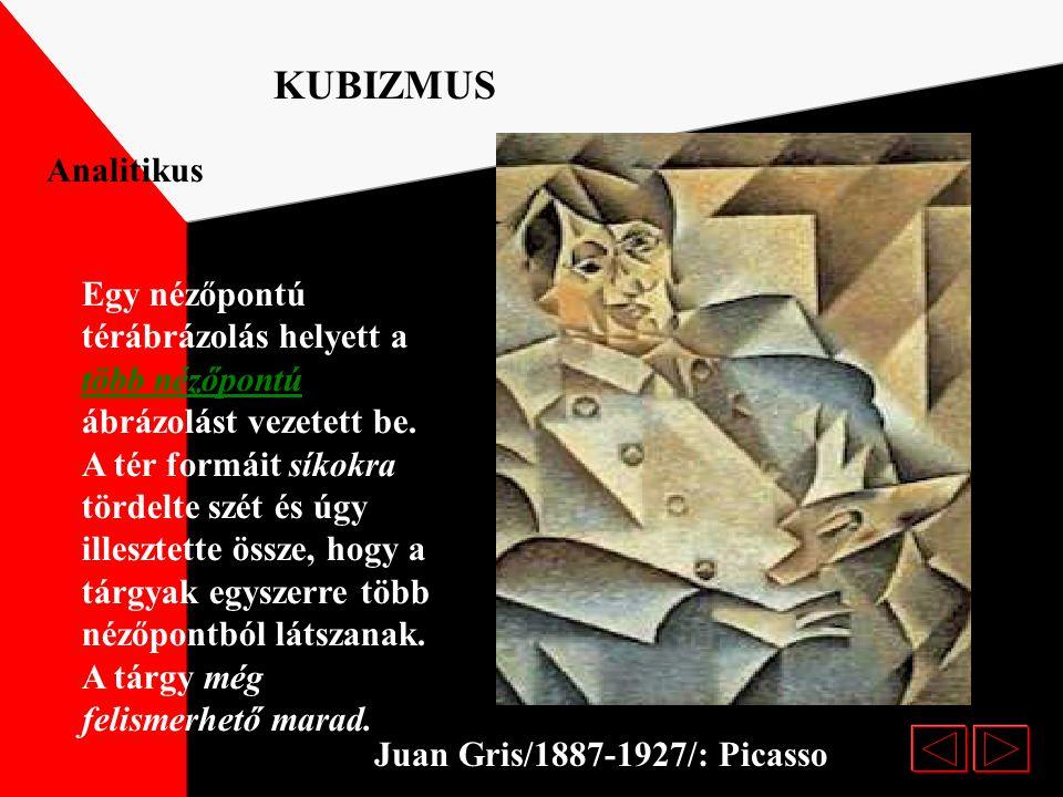 Pablo Picasso :Házak PLASZTIKUS KUBIZMUS 1906 fordulatot jelentett a festészetben. A kubizmus elnevezés a kubus /kocka/ szóból ered, mivel az ebben a