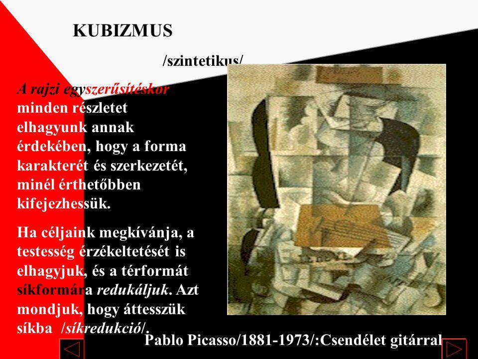 Juan Gris/1887-1927/: Picasso Analitikus Egy nézőpontú térábrázolás helyett a több nézőpontú ábrázolást vezetett be. A tér formáit síkokra tördelte sz