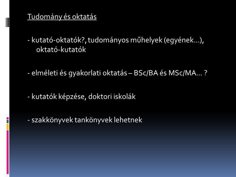 Tudomány és szakpolitika - belülről: VÁTI, NTH.