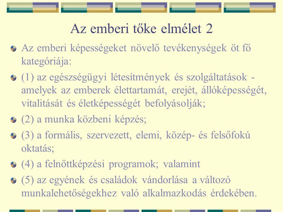 Oktatás-tervezés Magyarországon A munkaerő és az oktatás tervezésének igen jelentős hazai teoretikusai vannak.