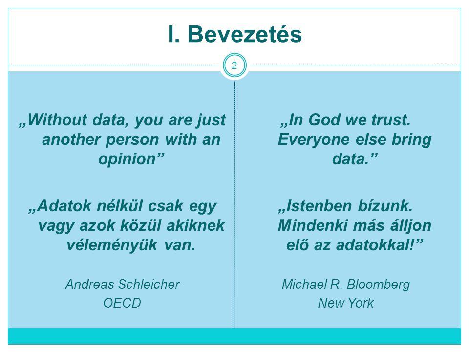 "2 I.Bevezetés ""In God we trust. Everyone else bring data. ""Istenben bízunk."