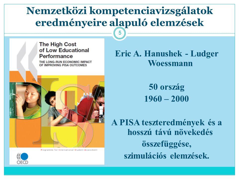 Nemzetközi kompetenciavizsgálatok eredményeire alapuló elemzések Eric A.