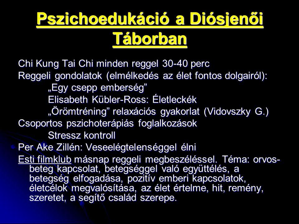 """Pszichoedukáció a Diósjenői Táborban Per Ake Zillén: Veseelégtelenséggel élni """"Az első cél: megelőzni a teljes veseelégtelenség kialakulását, illetve minimálisra csökkenteni ennek kockázatát."""