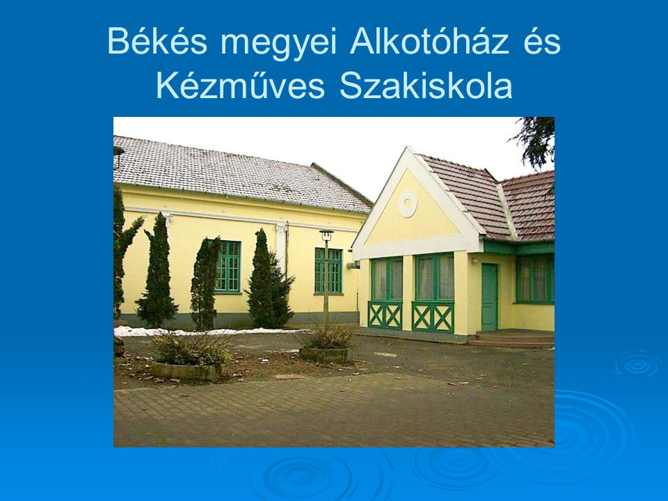 Békés megyei Alkotóház és Kézműves Szakiskola