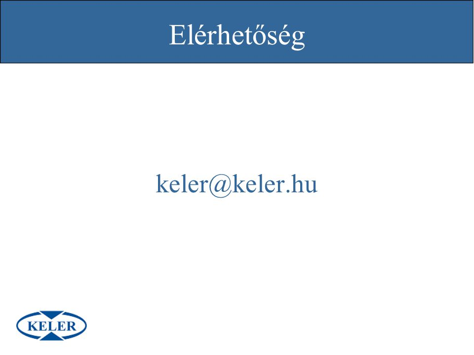 Elérhetőség keler@keler.hu