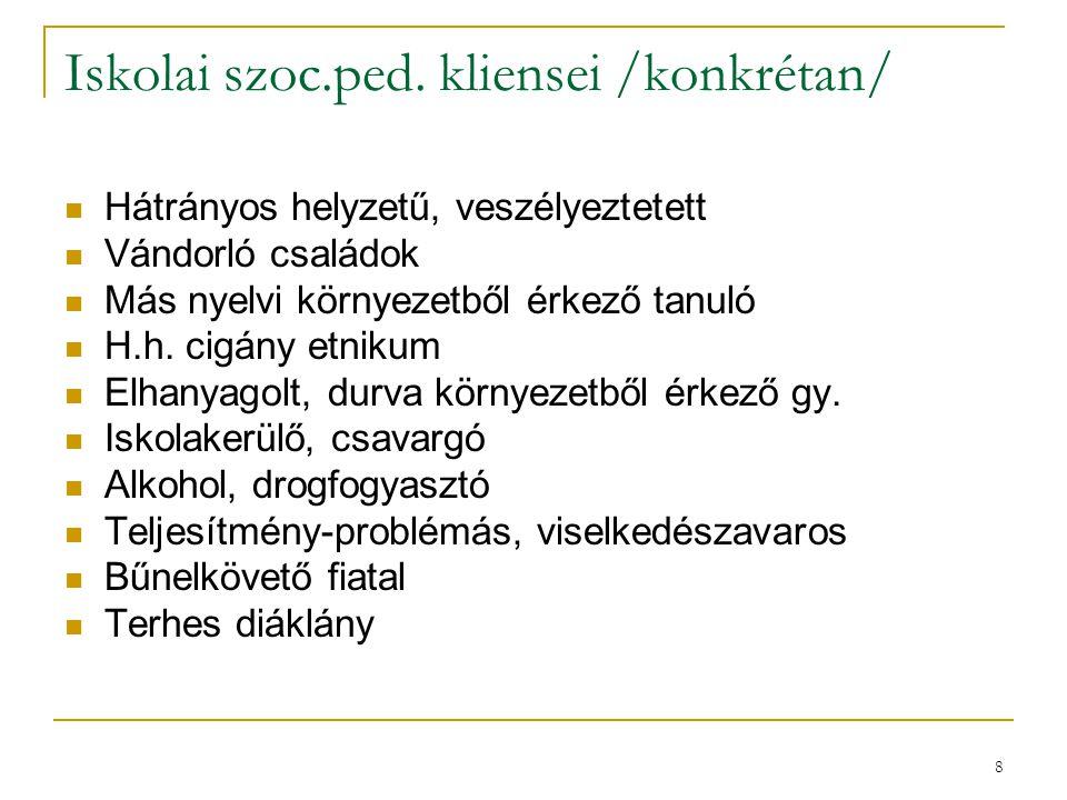 9 Iskolai szociálpedagógia Németországban (Heinz J.
