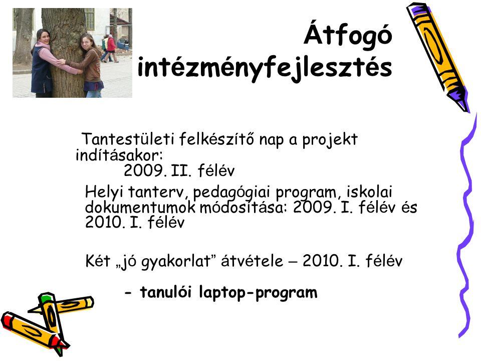 Á tfog ó int é zm é nyfejleszt é s Tantest ü leti felk é sz í tő nap a projekt ind í t á sakor: 2009.