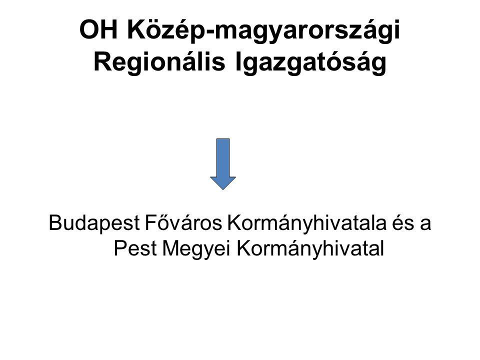 OH Közép-magyarországi Regionális Igazgatóság Budapest Főváros Kormányhivatala és a Pest Megyei Kormányhivatal