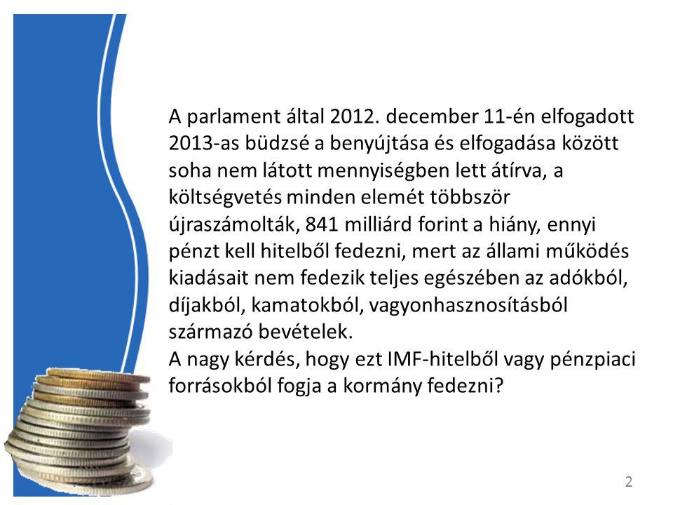 A parlament által 2012.