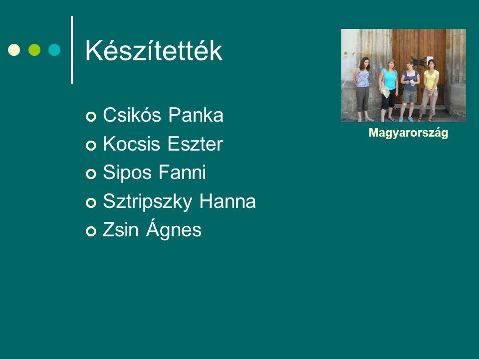 Készítették Csikós Panka Kocsis Eszter Sipos Fanni Sztripszky Hanna Zsin Ágnes Magyarország