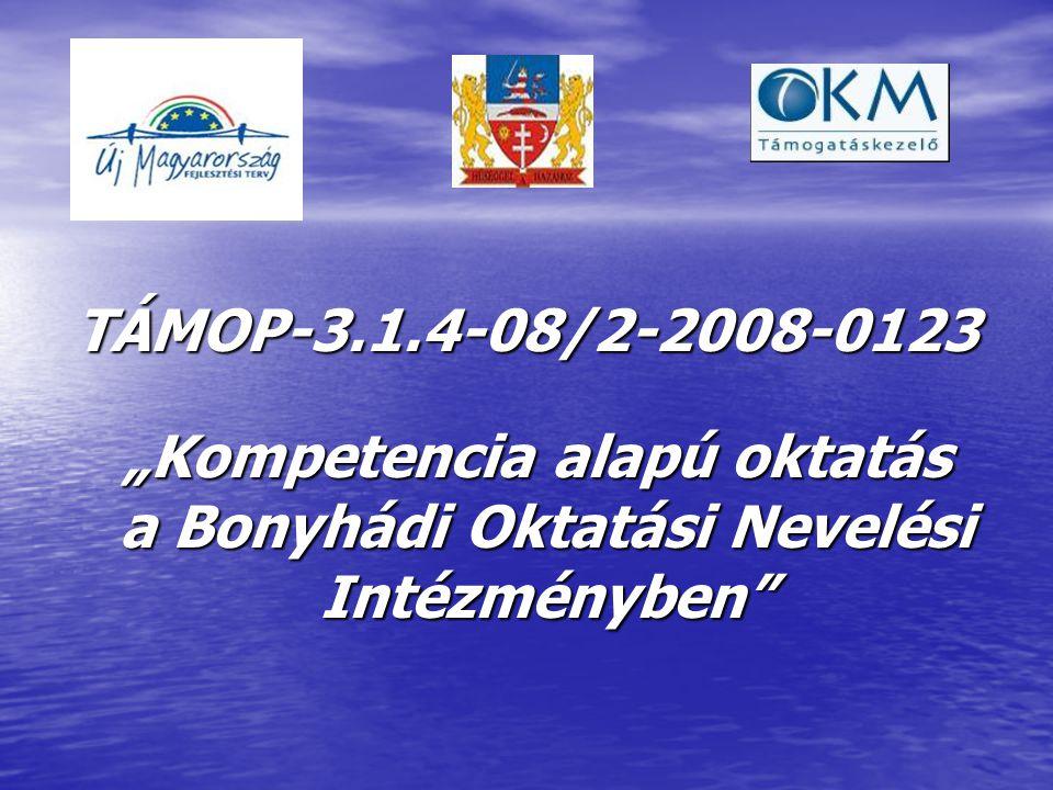 """TÁMOP-3.1.4-08/2-2008-0123 """"Kompetencia alapú oktatás a Bonyhádi Oktatási Nevelési Intézményben """"Kompetencia alapú oktatás a Bonyhádi Oktatási Nevelési Intézményben"""