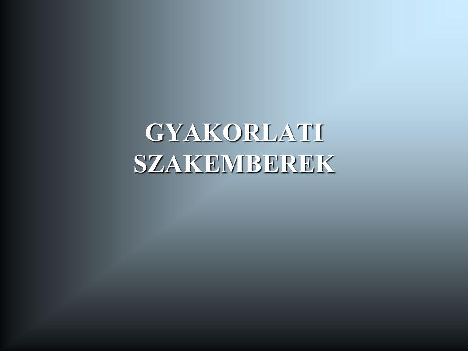 GYAKORLATI SZAKEMBEREK
