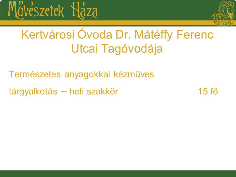 Kertvárosi Óvoda Dr.