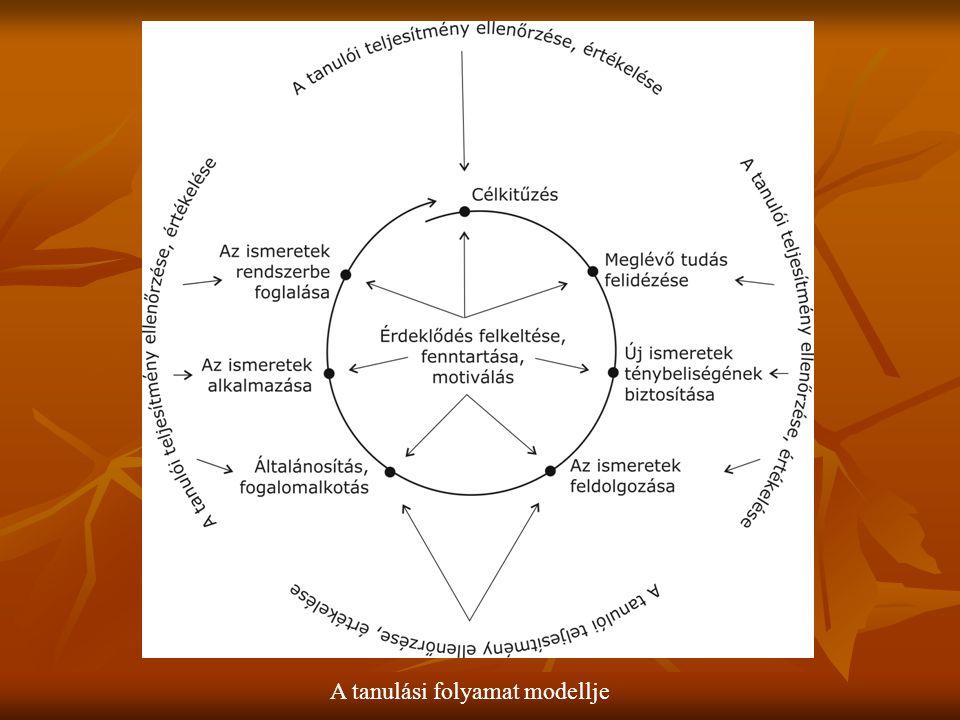 A tanulási folyamat modellje