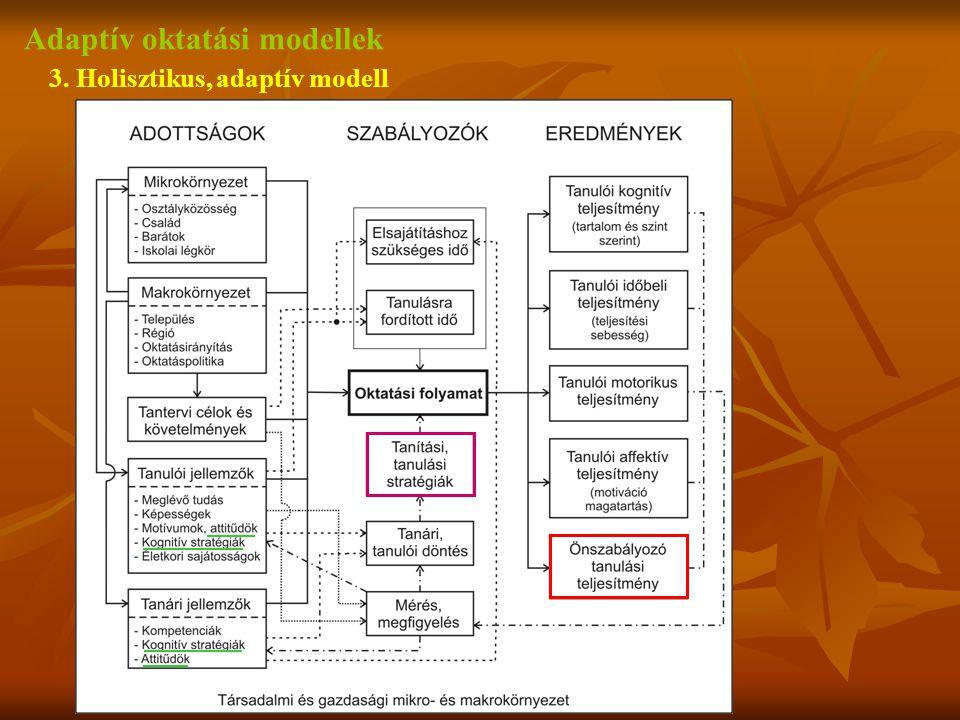 Adaptív oktatási modellek 3. Holisztikus, adaptív modell