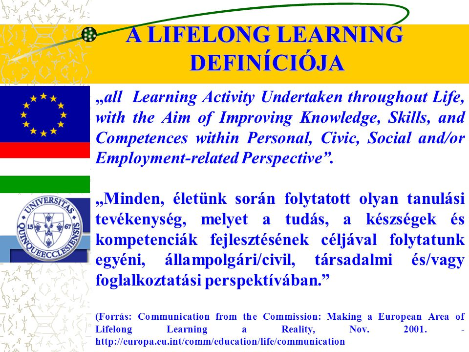 """all Learning Activity Undertaken throughout Life, with the Aim of Improving Knowledge, Skills, and Competences within Personal, Civic, Social and/or Employment-related Perspective ."