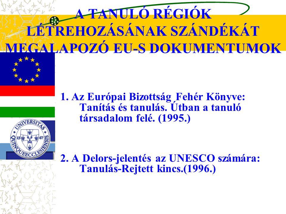 A TANULÓ RÉGIÓK LÉTREHOZÁSÁNAK SZÁNDÉKÁT MEGALAPOZÓ EU-S DOKUMENTUMOK 3.