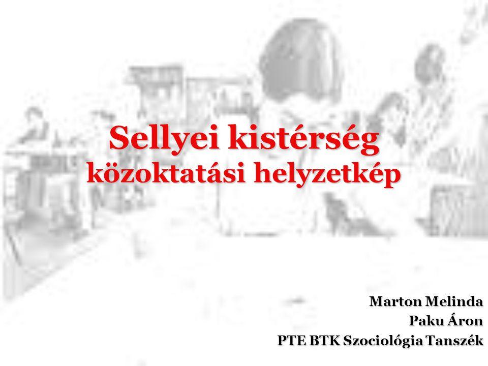 Sellyei kistérség közoktatási helyzetkép Marton Melinda Paku Áron PTE BTK Szociológia Tanszék